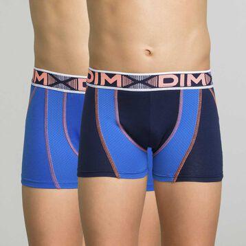 Lot de 2 boxers garçon bleu matelot - 3D Flex Air, , DIM