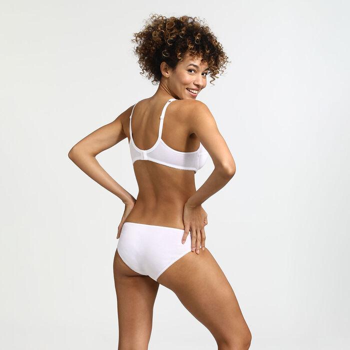 Generous Organic Cotton Dim underwire push-up bra in white, , DIM