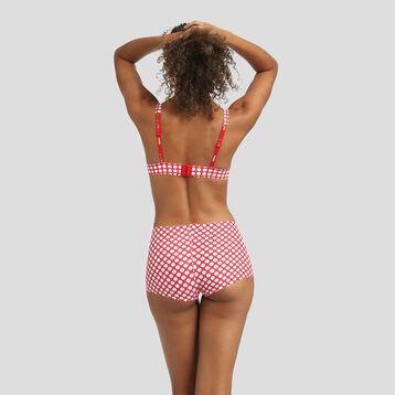 Red triangle bra with white polka dots Agnès B. x Dim, , DIM