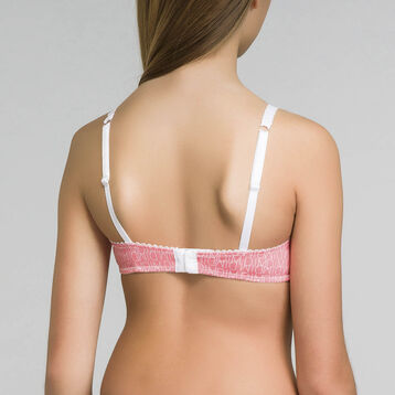 Pink cup triangle bra for Girl - Dim Touch, , DIM