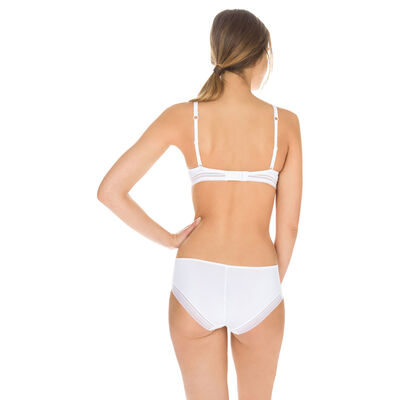 White Invisi Fit second skin hipsters, , DIM