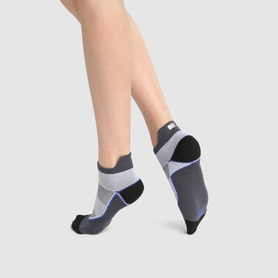 Dim Sport women's high impact polyamide socks Grey White, , DIM