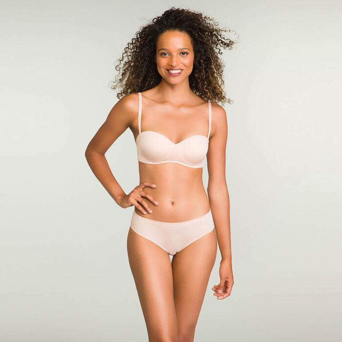 Non-wired Pink Skin Strapless Bra InsiviFree , , DIM