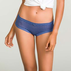 Porcelain Blue women's polka dot mesh shorty in Dotty Mesh, , DIM
