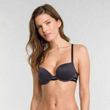 Push up  bra in black lace - Dim Trendy Micro, , DIM