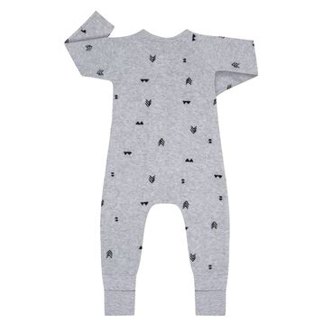 Indian Print Zipped Pyjama in cotton terry Dim Baby, , DIM