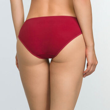 Cherry Red microfiber embroidered briefs Generous Mod, , DIM