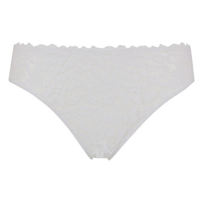 Blooming Lace Dim briefs in White lace and microfibre, , DIM