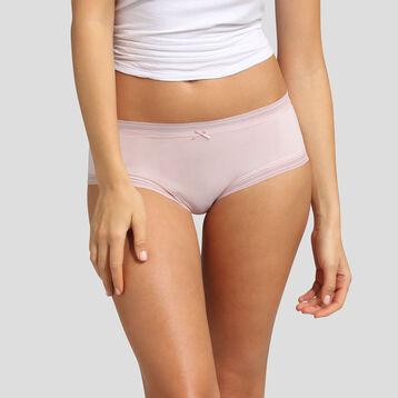 Nude pink microfiber shorty Dim Panty Box, , DIM