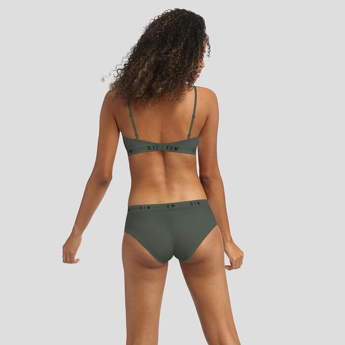 Dim Originals khaki non-wired bra in modal and cotton, , DIM