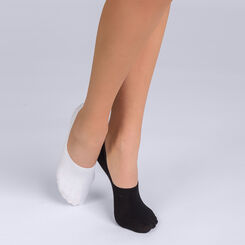 Pack of 2 pairs of Basic Coton footsies for trainers, , DIM