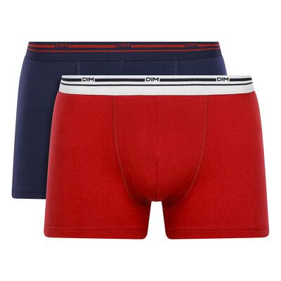 Набор 2шт.: Хлопковые боксеры красного и синего цвета  Daily Colors, , DIM
