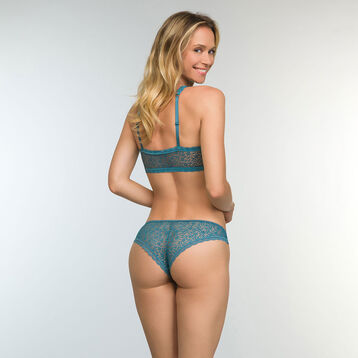 Women's Brazilian Tanga in Bluish Green Daily Glam Trendy Sexy, , DIM