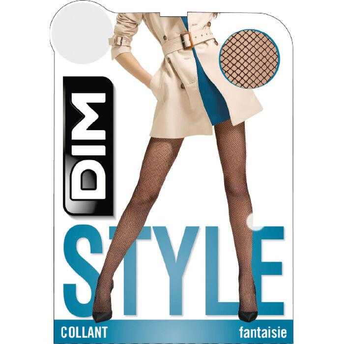 Collant résille daim Style, , DIM