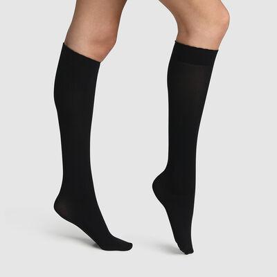Короткие носки из микрофибры специально для коротких сапог черного цвета, , DIM