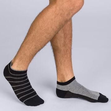 Lot de 2 socquettes à rayures Homme Coton Style-DIM