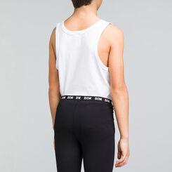 White DIM Boy stretch cotton tank top - DIM