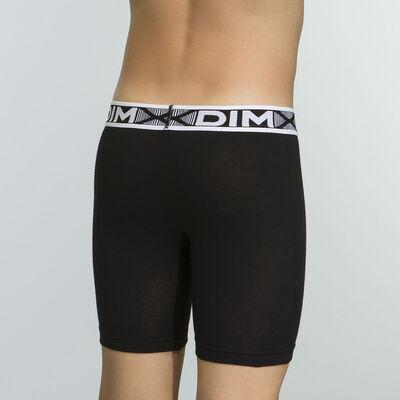Caleçon court noir pour garçon en coton stretch Basic Sport, , DIM