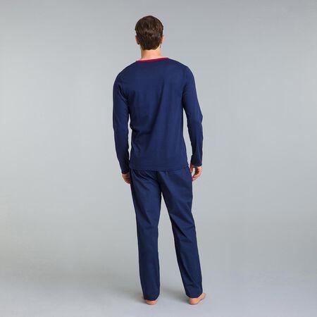 Camiseta de pijama de manga larga azul marino Signature. Ref 07NN.  22.00.  Descripción 16c6c5c1328