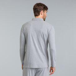 Tee-shirt de pyjama manches longues gris chiné Mix & Match-DIM