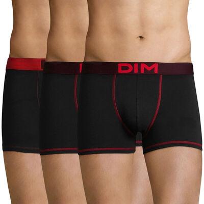 Набор 3 шт.: Боксеры черного, фиолетового и красного цвета Color Mix, , DIM