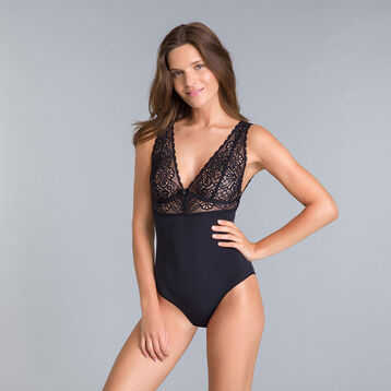 DIM Sublim MOD black lace body with bow - DIM