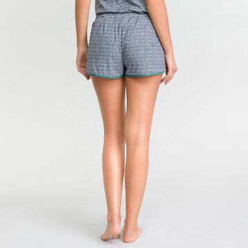 Green patterns pyjama shorts - DIM Odyssée, , DIM