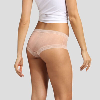 Dim Sexy Transparency 2 pack shorties nude pink , , DIM