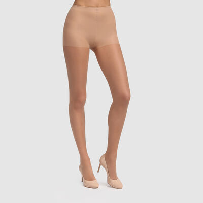 Sublim BB Cream Effect sheer voile tights in shiny beige 16D, , DIM