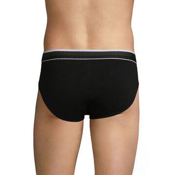 Breathable Men's brief in black cotton - Dim Sport, , DIM