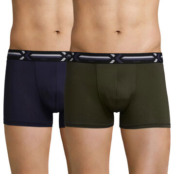 2-pack khaki and dark blue trunks - Xtemp Activ , , DIM