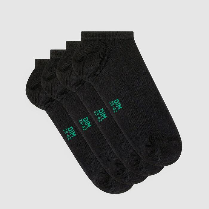 Lot de 2 paires de socquettes homme en coton bio Anthracite Green by Dim, , DIM