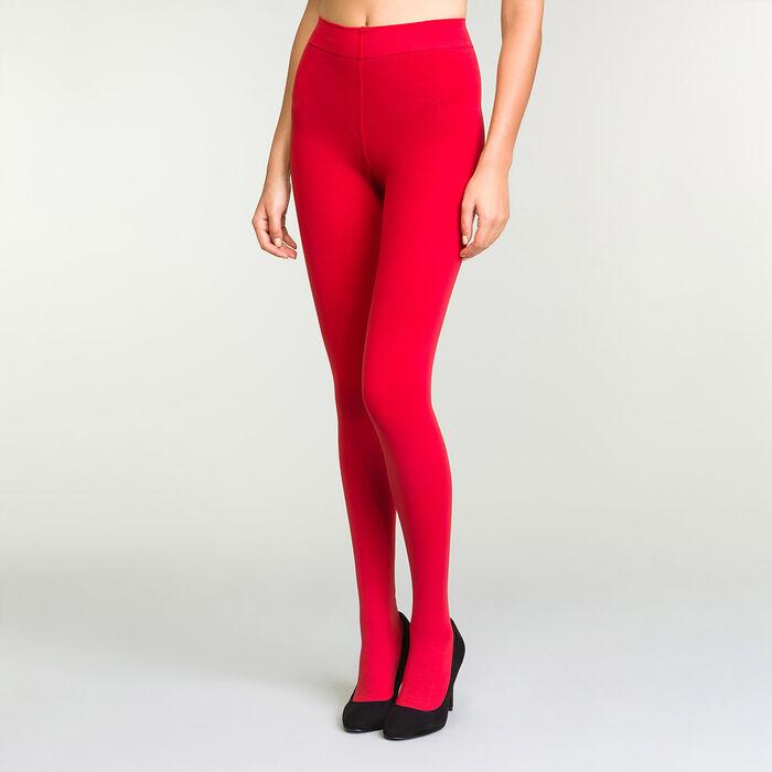 Collant Ultra-Opaque Rouge Intense pour femme Perfect Contention 80D, , DIM