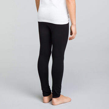 Black DIM Boy stretch cotton long johns - DIM
