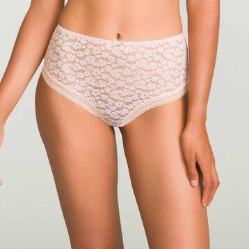 Culotte taille haute Skin Rose en dentelle pour femme Leopard Line, , DIM
