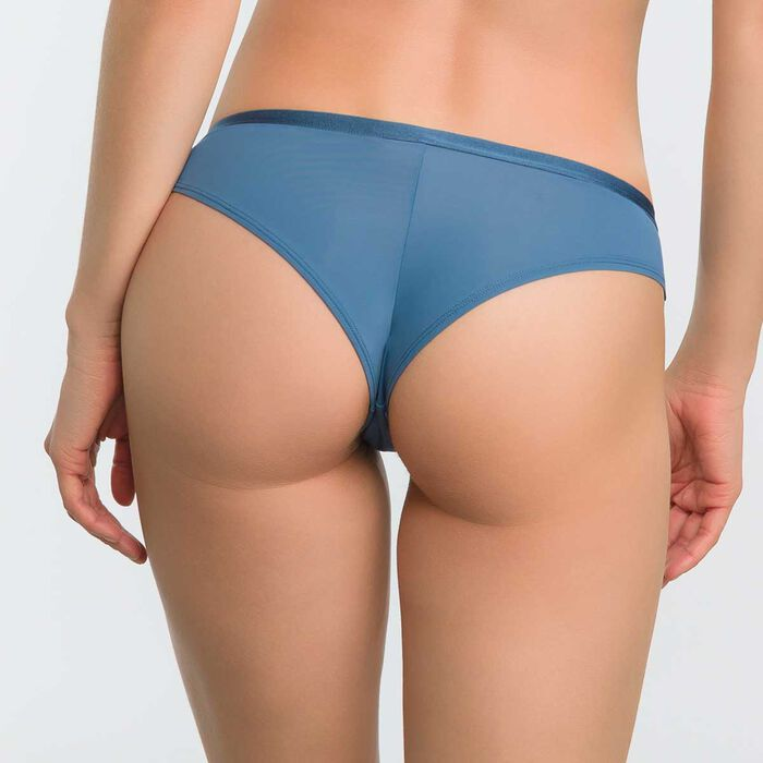 Brazilian Tanga in blue lace - Dim Daily Glam Trendy Sexy, , DIM
