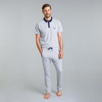Polo de pyjama gris chiné Street Art-DIM