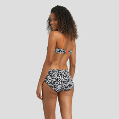 Black high-waist brief with printed letters Agnès B. x Dim, , DIM