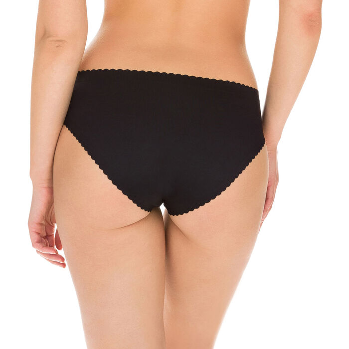 Culotte noire en microfibre Body Touch Dim, , DIM