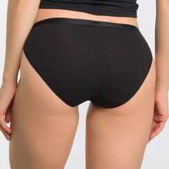 Pack of 5 pairs of Les Pockets Coton bikini knickers in black, white, nude and grey, , DIM