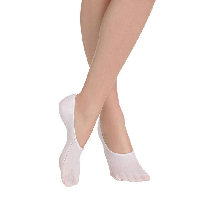 Lot de 2 protège-pieds blancs spécial baskets Mes Essentiels-DIM
