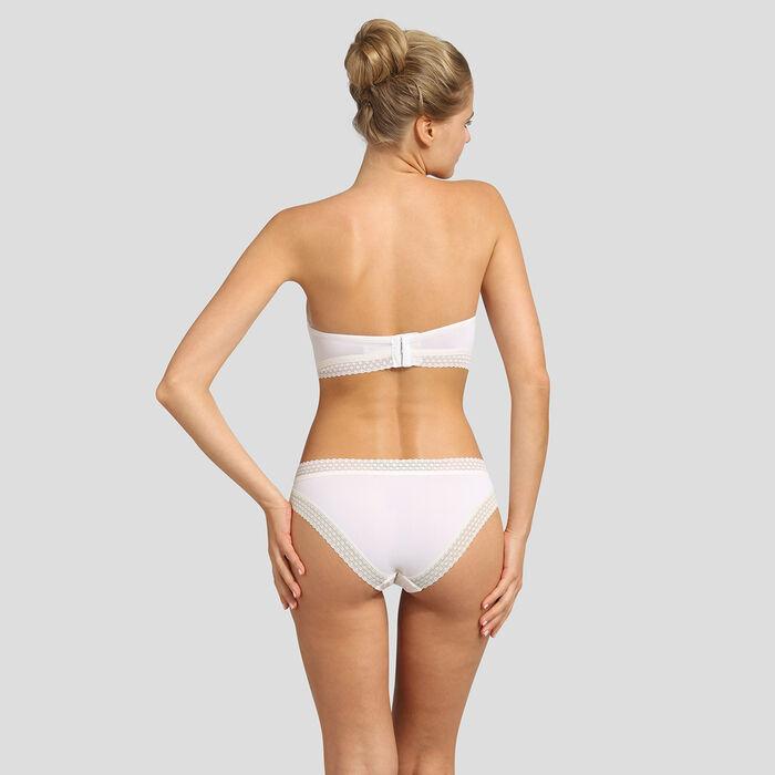 Pearly white padded strapless bra Dim Trendy Micro, , DIM