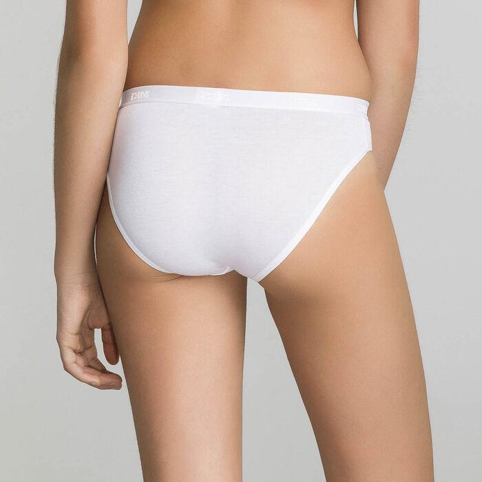 Lot de 3 culottes blanche, noire, grise Les Pockets DIM Girl, , DIM