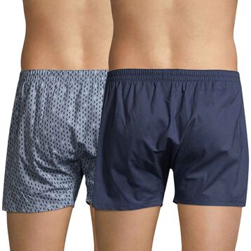 Set of 2 DIM storm and fog blue boxer shorts - DIM
