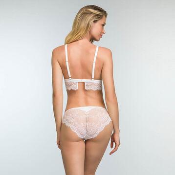 Soutien-gorge triangle blanc en dentelle pour femme Refined Lace, , DIM