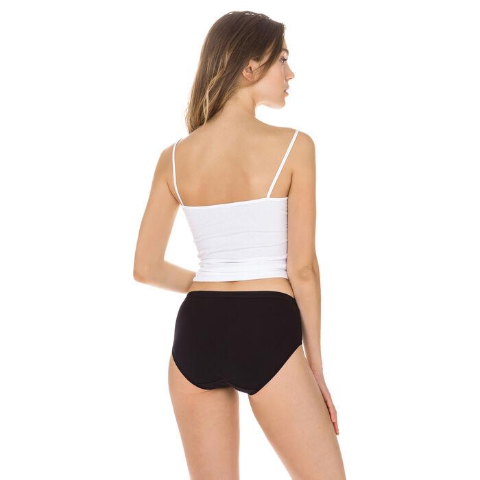 Lot de 2 culottes maxi noire et blanche en coton bio-DIM
