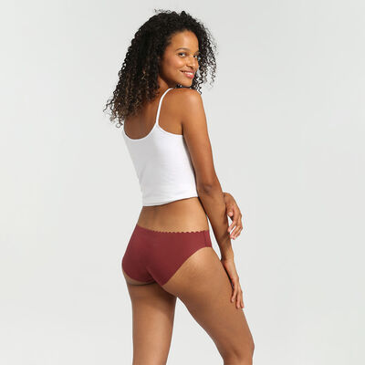 Body Touch Cotton pack of 2 stretch cotton briefs chocolate/nude, , DIM