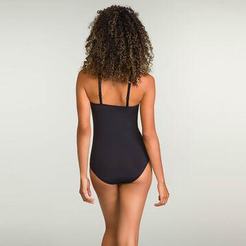 Body Noir en dentelle sans armatures pour femme Mod de Dim, , DIM