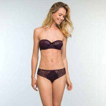 Sublim Dentelle Precious Purple full cup lace bandeau, , DIM