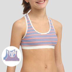 2 pack French Riviera Bic blue cotton sports bras Dim Girl, , DIM